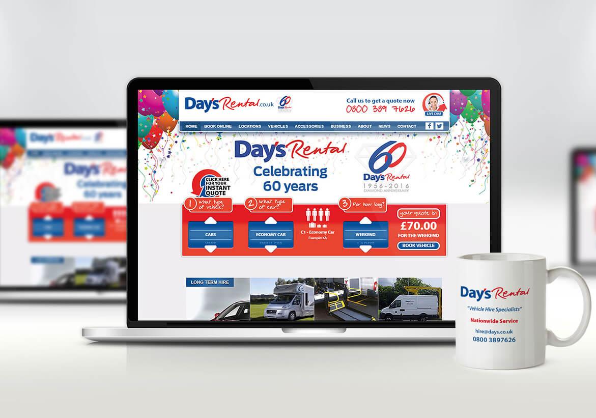 Days Rental Website Design