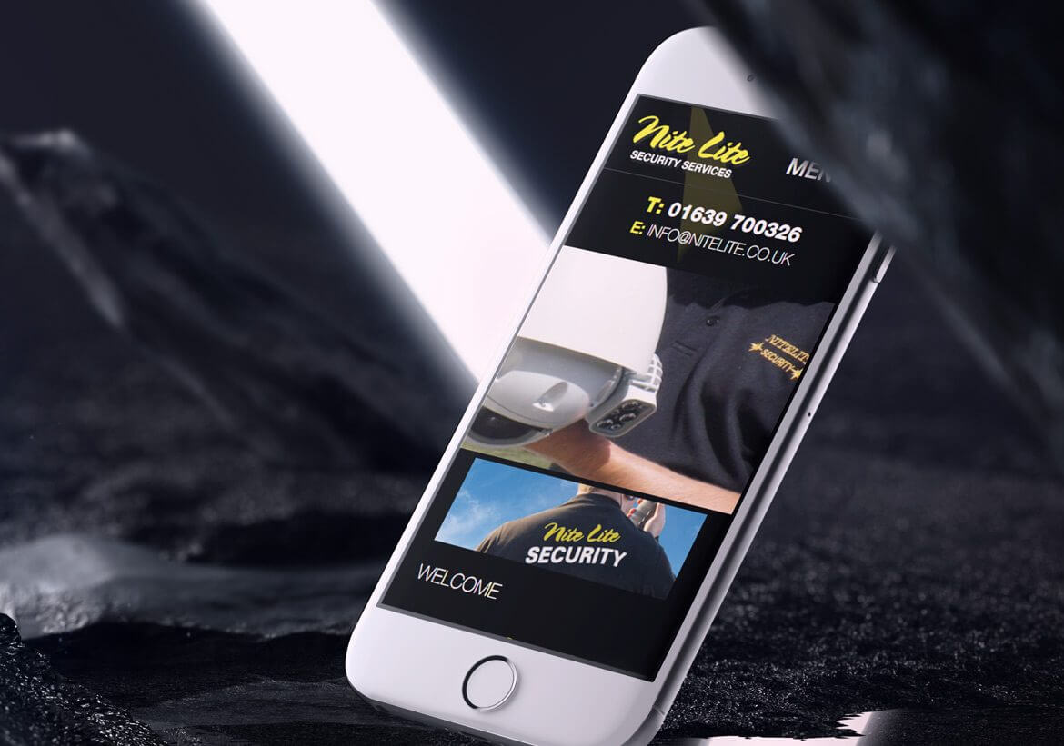 NiteLite Mobile design