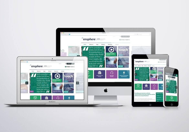 Ensphere fully responsive website design