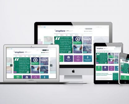 Ensphere fully responsive website design