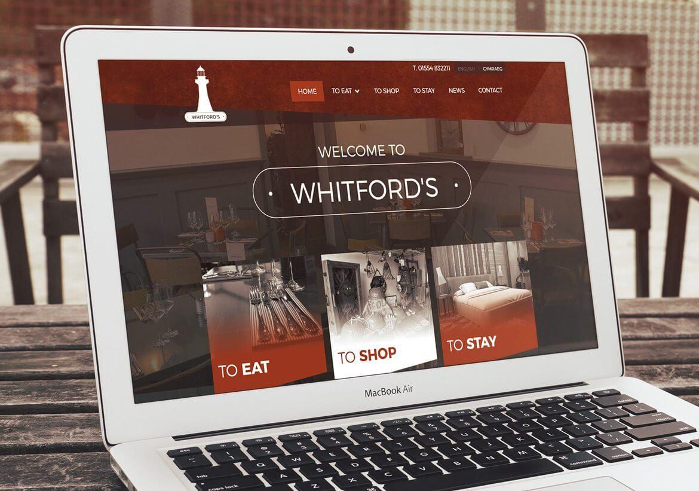 Whitford's brochure website design