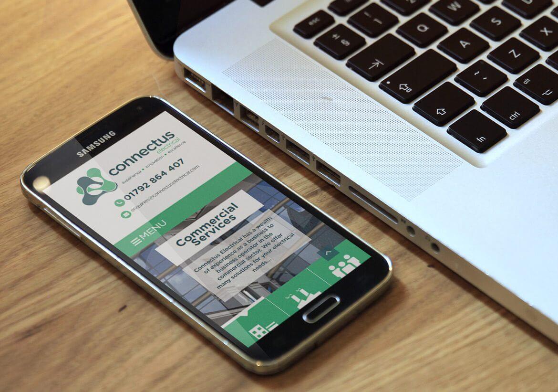 ConnectUs Electrical Mobile responsive web design