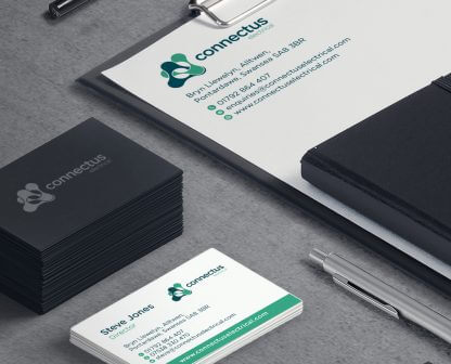 ConnectUs Electrical Stationery design
