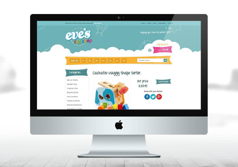 Eves Toy eCommerce website design