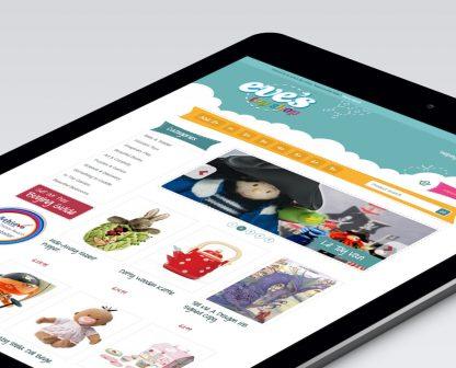 Eves Toy Shop Tablet design