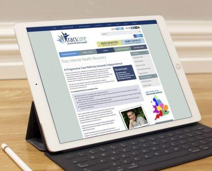 Tracscare iPad tablet design