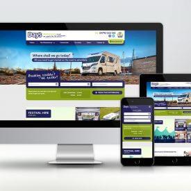 Days Motorhomes Website design