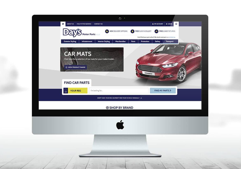 Days Motorparts eCommerce web design