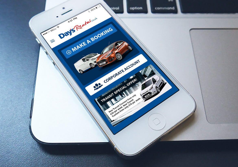 Days Rental App design