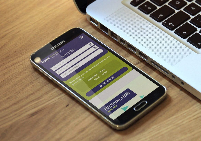 Days Motorhomes Mobile responsive design