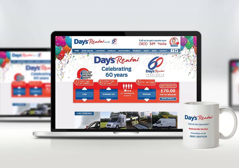 Days Rental Custom web design & development