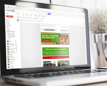 Sheds N Chalets Email Marketing Design