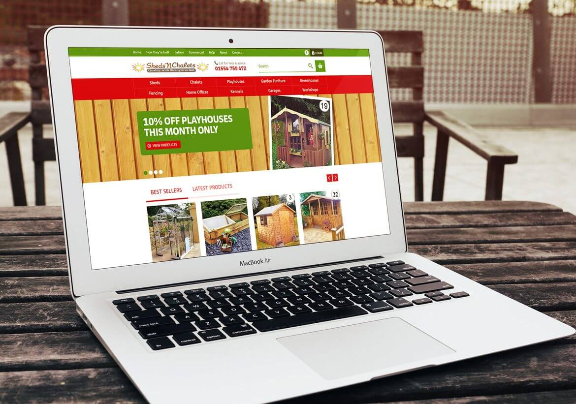 Sheds N Chalets Website design